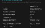 Время заменить батарею для ноутбука в Windows?