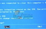 Исправлено: изменение конфигурации было запрошено для очистки TPM этого компьютера —