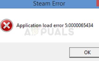 Исправлено: Ошибка загрузки приложения 5: 0000065434 —