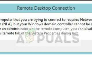 Исправлено: Удаленный компьютер требует проверки подлинности на уровне сети —