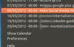 Индикатор календаря: смотрите календарь Google в трее Ubuntus [Linux]