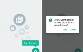 Сканирование документов на вашем телефоне с CamScanner для Android