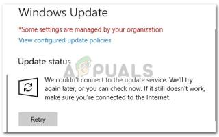 Исправлено: мы не смогли подключиться к службе обновления в Windows 10 —