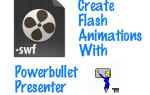 Как сделать свои собственные Flash-анимационные презентации с Powerbullet Presenter