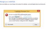 Как исправить ошибку диспетчера учетных данных 0x80090345 —