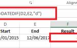 Как использовать Excel для расчета между датами