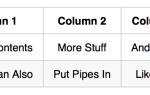 Как создать таблицу уценок