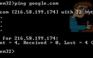 Исправлено: общая ошибка при запуске команд Ping —