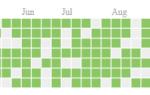 Создание календарной диаграммы тепловых карт (например, Github Contributions) в ReactJS
