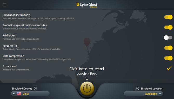 Cyberghost Störung