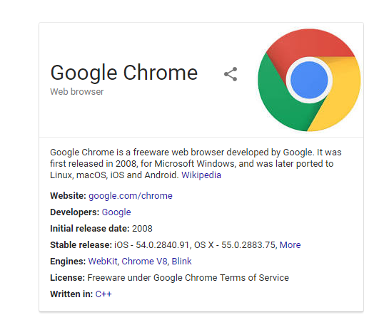 Windows 10 Google Chrome
