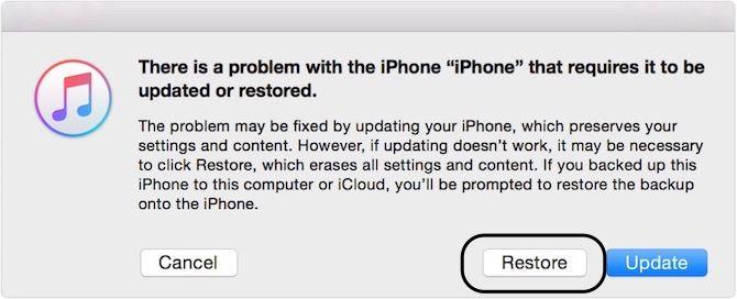 забыл пароль iphone