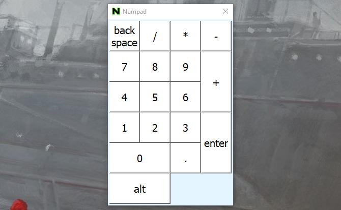 эмулятор цифровой клавиатуры