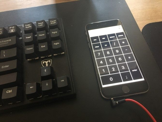 цифровая клавиатура iphone