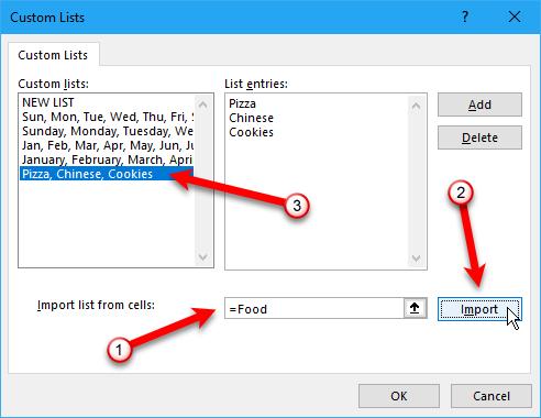 как создавать собственные списки в Excel