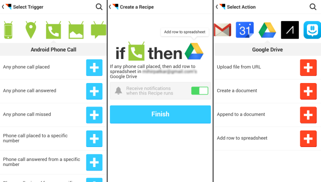 IFTTT-For-Android-телефон-Бревна-SMS-Google-Drive-Backup-Phone