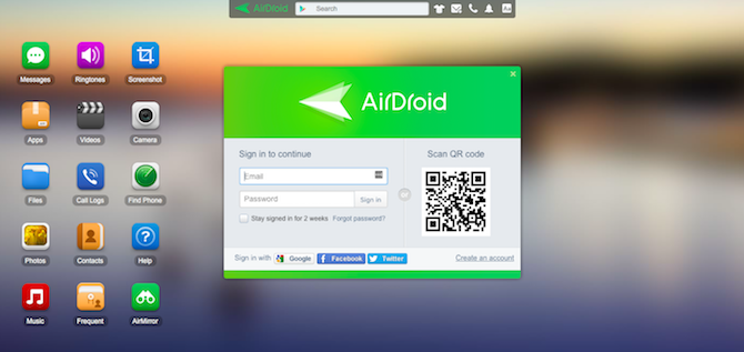 Могу ли я управлять своим телефоном Android с моего компьютера? AirDroid Connect