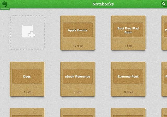 Evernote-Notebooks