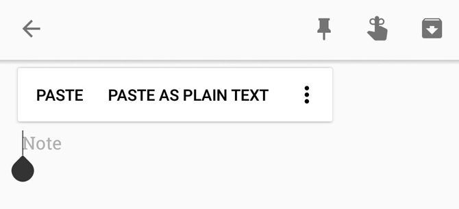 Android Paste