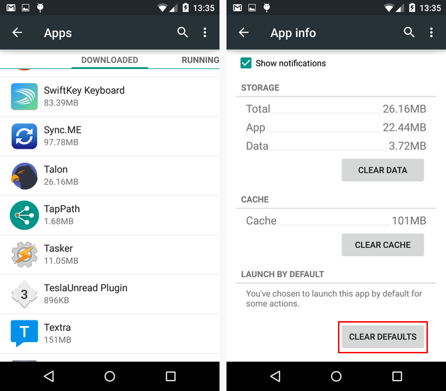 02-Android-Clear-Default-App