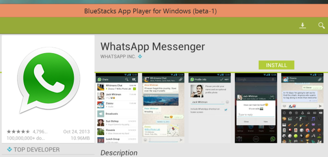 4 установить WhatsApp на Windows