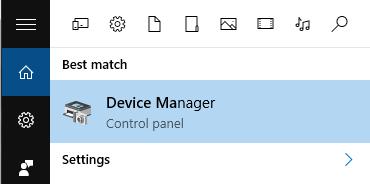 Поиск диспетчера устройств Windows 10