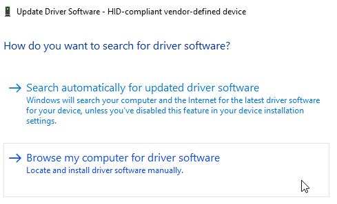 Windows 10 Обновление программного обеспечения драйвера