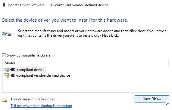 Драйвер для Windows 10 имеет диск