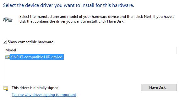Windows 10 XINPUT Драйвер