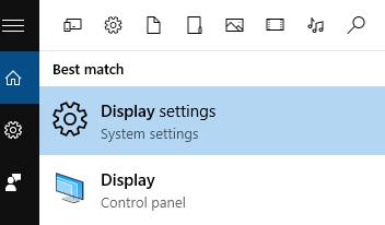 Настройки отображения Windows 10