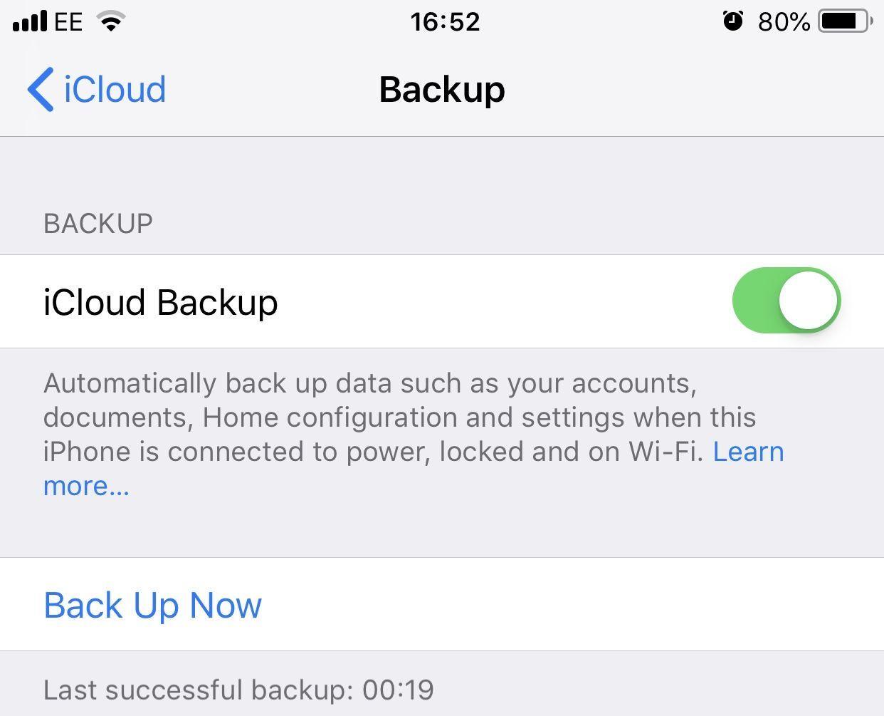 iCloud iPhone резервное копирование