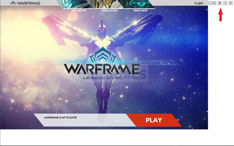 Warframe Launcher UI