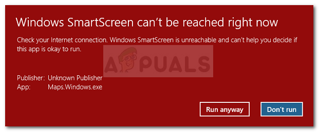 SmartScreen может't be reached right now