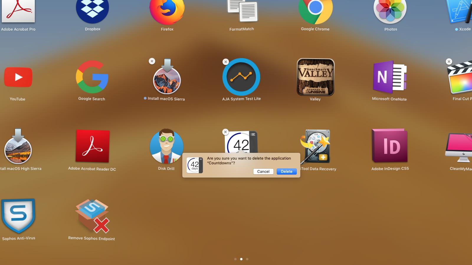 Как удалить приложения Mac