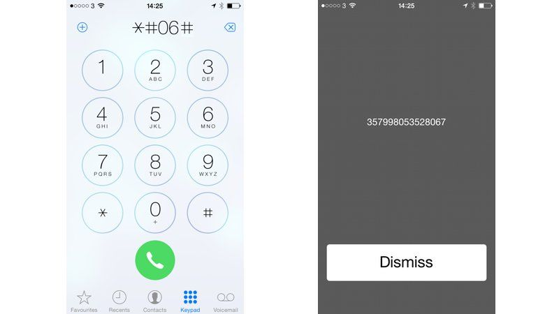 Как найти свой iPhone's IMEI number by dialling a code