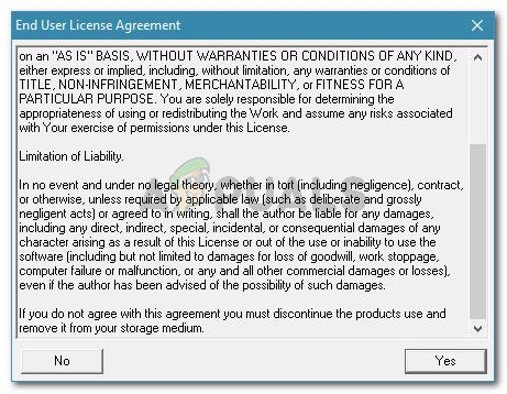 Принятие Roadkil's Licence agreement